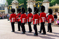 Foot Guards exiting Buckingham Palace